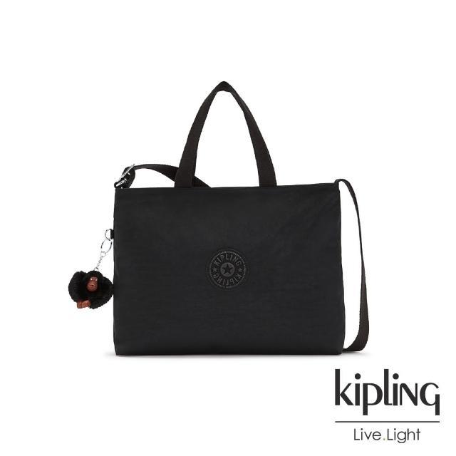 【KIPLING】繽紛夢幻花繪翻蓋手提側背包-ZEVA/