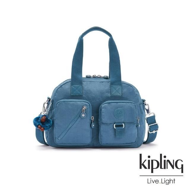 【KIPLING】牧場彩繪風格輕盈手提斜背包-NORI/