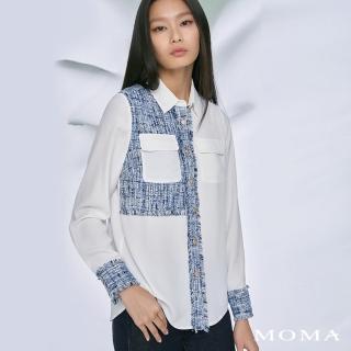 【MOMA】小香風拼接襯衫(白色)/