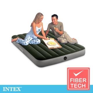 【INTEX】經典雙人fiber-tech充氣床墊_綠絨-寬137cm(64108)