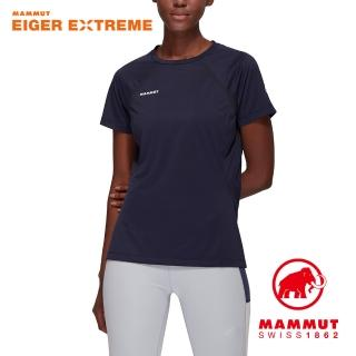 【Mammut 長毛象】Moench Light T-Shirt Women 輕量極限艾格透氣短袖排汗衣 女款 夜藍 #1017-02970