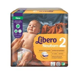 【麗貝樂】Comfort 黏貼型 嬰兒尿布/紙尿褲 新生兒2號(NB-2 34片/包購)