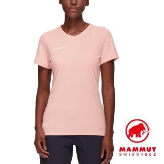 【Mammut 長毛象】Sertig T-Shirt Women 輕量透氣短袖排汗衣 女款 夕沙粉 #1017-00140