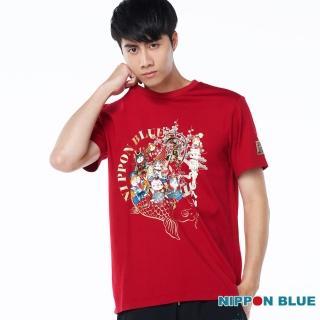 【BLUE WAY】棒系列七福招財貓短TEE-日本藍