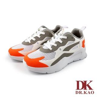 【DK 高博士】潮流撞色氣墊鞋 73-0149-32 橘色