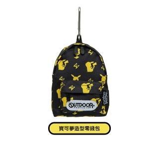 【OUTDOOR】Pokemon寶可夢聯名款潮黑皮卡丘零錢包 黑色(兩款任選)