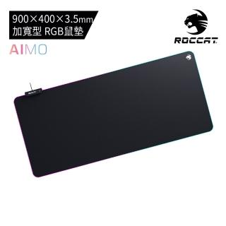 【ROCCAT】Sense AIMO XXL 超寬型 RGB 燈光電競滑鼠墊(AIMO 智慧燈光生態系統)