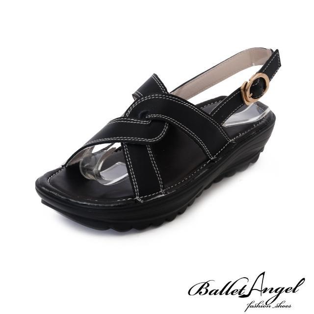 【BalletAngel】釋壓真皮涼鞋/楔型涼鞋/厚底涼鞋/交叉/雕花/撞色/羅馬鞋/拖鞋(多款任選)