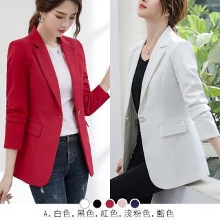 【初色】韓版修身西裝外套-共4款-97240.97479.98492.98493(M-2XL可選)