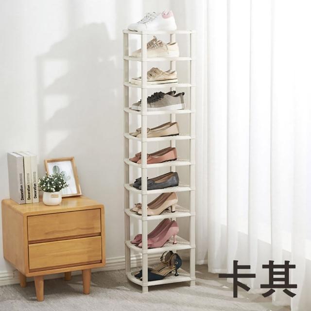 【E-Life】簡約北歐十層可拆分組合多層鞋架(多層鞋架/收納架/置物架)