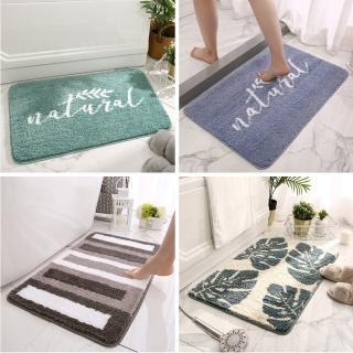 【西格傢飾】北歐系加厚吸水防滑廚房浴室地墊(植絨/止滑/TPR/玄關地墊)