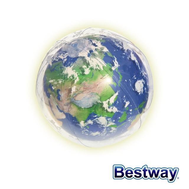 【BESTWAY】Bestway。世界地球LED發光海灘球