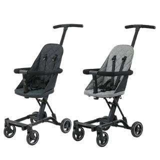 【JOLLY】輕便型摺疊手推車 二胎神器 豪華款(黑/灰)