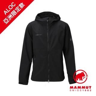 【Mammut 長毛象】Hiking WB Hooded Jacket Men 健行防風連帽外套 黑色 男款 #1012-00390