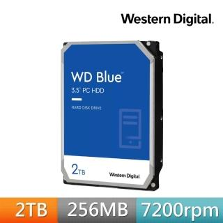 【WD 威騰】藍標 2TB 桌上型3.5吋 SATA硬碟(WD20EZBX)