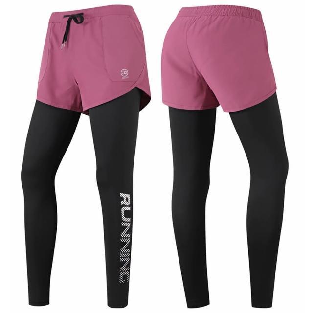 【SAMLIX 山力士】女假兩件式緊身長褲#03480(女假兩件式緊身長褲#03480)