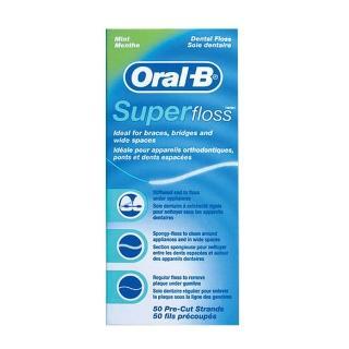 【Oral-B 歐樂B】三合一牙線6盒(牙橋專用50入/盒)