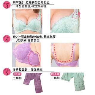 【Swear 思薇爾】花戀芙蓉系列B-F罩蕾絲包覆女內衣3套組(隨機出貨)