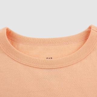 【GAP】男童 潮酷純棉印花短袖T恤(683400-桃粉色)