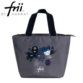 【Frii 自由】萬用便當袋-怪獸足球灰Monsterball(樂寶官方獨家Frii便當袋)