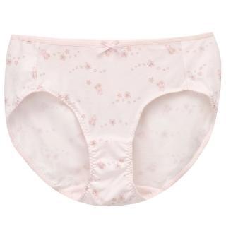 【BeenTeen 嬪婷】學生系列-北海道牛奶蛋白纖維 M-3L中低腰三角褲  搭配內褲-BS3160P8(櫻花粉)