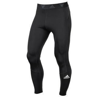 【adidas 愛迪達】緊身褲 男款 運動 健身 慢跑 長褲 TF LONG TIGHT 黑 GM5036