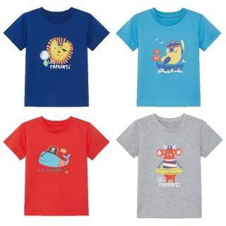 【麗嬰房 les enphants】EASY輕鬆系列 男童海盜樂園短袖上衣(藏青/海藍/紅色/灰色 76cm-130cm)