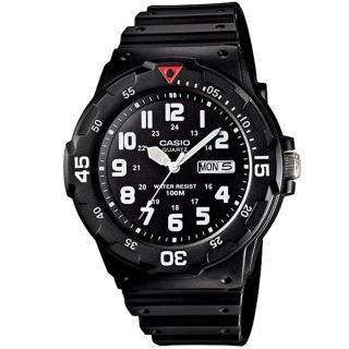 【CASIO 卡西歐】潛水風格輕巧運動手錶(MRW-200H-1B)