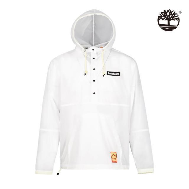 【Timberland】男款白色夏季輕量連帽上衣(A2D56100)/