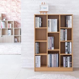 【TZUMii】賀比大規格十一格櫃-原木色(書櫃 收納櫃 置物櫃 空櫃)