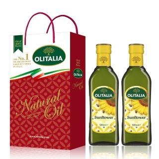 【Olitalia 奧利塔】純橄欖油1000mlx4瓶禮盒組(贈頂級葵花油500mlx2瓶加贈特級初榨橄欖油100ml)