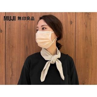 【MUJI 無印良品】法國亞麻附口袋領巾(原色)