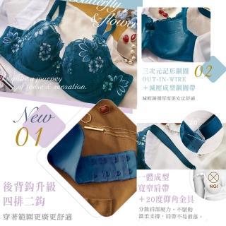 【Lavieaisee 金華歌爾】閨蜜 B-C 罩杯內衣 寬肩帶減壓-絲蛋白素材-親膚透氣-記形鋼圈-IB4344(鴨綠藍)