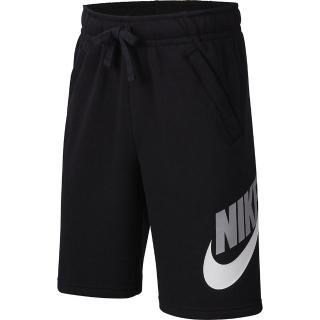 【NIKE 耐吉】短褲 男童 大童 運動短褲 慢跑 B NSW CLUB + HBR SHORT FT 黑 CK0509-010