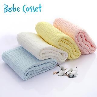專案加價購【Babe Cosset】六層泡泡綿紗萬用巾(105x105cm親膚柔軟 不含螢光劑)