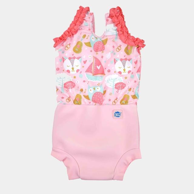 【Splash About 潑寶】女童 尿布褲 連身 小可愛 - 快樂貓頭鷹(嬰兒泳褲)