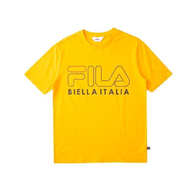 【FILA】短袖T恤 男女款 純棉圓領上衣-共6色任選(1TEU-5500+1TEU-5502)