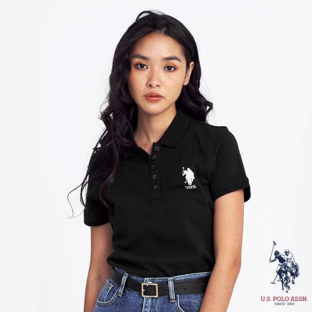 【U.S. POLO ASSN.】女中馬短袖POLO衫-多色任選(100%純棉、熱銷系列)