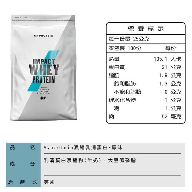 【MYPROTEIN】濃縮乳清蛋白2.5KG(多口味可選)