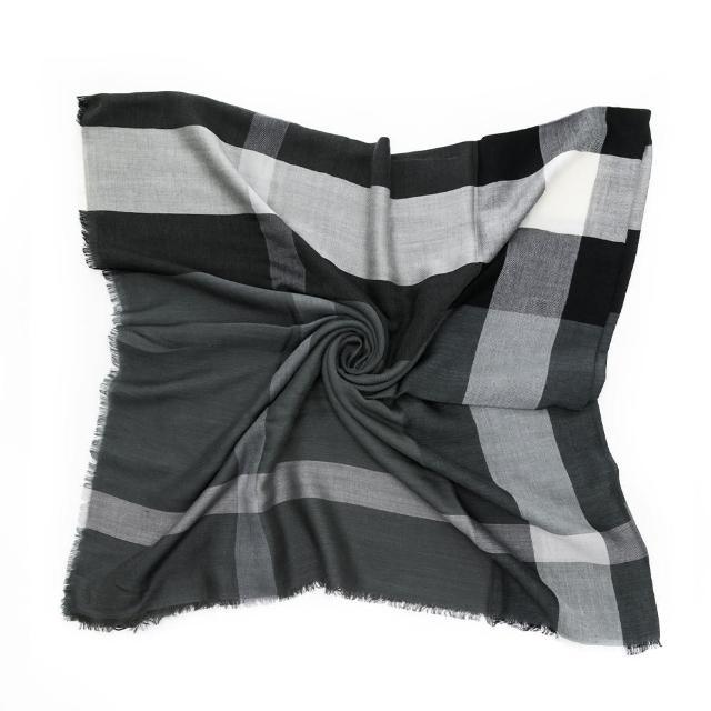 【BURBERRY 巴寶莉】經典格紋 撞色圍巾/披肩/方巾(多色任選)
